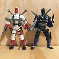 G.I. Joe vs Cobra Snake Eyes Storm Shadow Set loose Never Played Action Figures