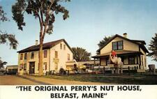 PERRY'S TROPICAL NUT HOUSE Belfast, Maine Roadside 1968 Vintage Postcard