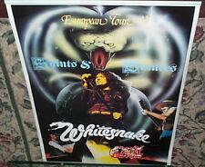 WHITESNAKE Euro Saints & Sinners Tour Vintage  Poster