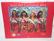 VINTAGE TAOS N M ART CALENDAR 2012 PRINTS VARIOUS ARTISTS & GALLERIES DECOUPAGE?