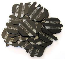 Bulk Pack of 30 Ruthless Extra Strong Dart Flights - Black Transparent