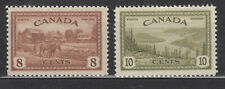 1946 #268 8¢ &  #269 10¢ KING GEORGE VI PEACE ISSUE F-VFNH