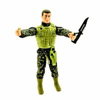 """Action Man Full Size 12"""" Fully Clothed Boots Knife Accessories Vest Jacket Toy"""