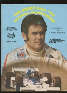 The Bobby Ball 150 Autographed by Al Unser Indy Car Race program October 1977