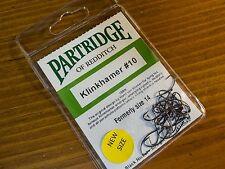 Partridge Klinkhamer #10 (formerly size 14)  Fly Tying Hooks QTY=25