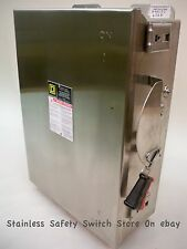 Square D Stainless H462DS 60 amp 600 volt 4 pole Fused Safety Switch NEW