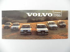 Catalogue VOLVO gamme 1986