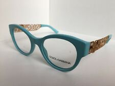 New Dolce&Gabbana DG 3184 2586 D&G Aquamarine Gold Lace Women's Eyeglasses Frame