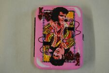 ELVIS PRESLEY PINK KING OF HEARTS DIAMANTE PURSE WALLET BOXED NEW OFFICIAL RARE
