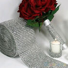 "New 4.75""x1 Yard Shiny Silver Plastic Mesh Wrap Sparkle Ribbon Party Decoration"