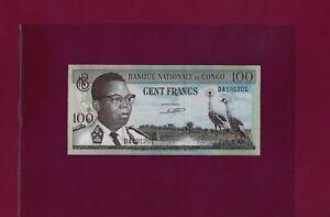 Congo Democratic Republic 100 FRANCS 1962 P-6 AU-UNC - ZAIRE