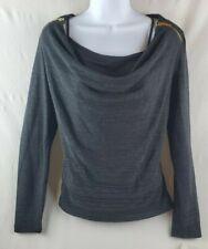 Charter Club Womens Medium 2 Pc. Cami/Sweater Set Black Shimmer Long Sleeve