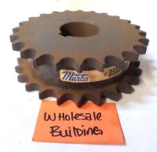 """MARTIN ROLLER CHAIN SPROCKET, DS50A24, DOUBLE SINGLE, 1-1/2"""" BORE, 5.12"""" OD"""