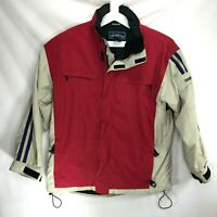 Obermeyer Mens Ski Jacket Snowboard Size Medium Winter Snow White Red