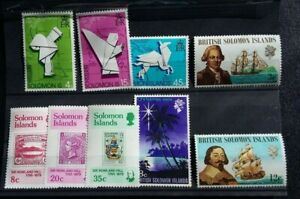 SOLOMON ISLAND  STAMPS--9---VERY FINE MINT--LIGHT HINGE  MARKS-