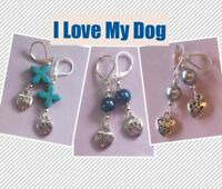 I LOVE MY DOG Lever back handcrafted YOU CHOOSE metal