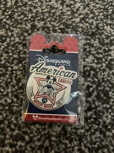 Disneyland Paris American Legend Mickey Mouse Collectable Enamel Pin NEW SEALED