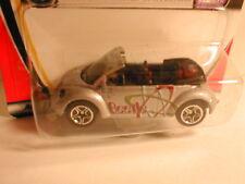 Matchbox 2001 #1 CONCEPT 1 BEETLE CONVERTIBLE silver w/ split 5s VW volkswagen