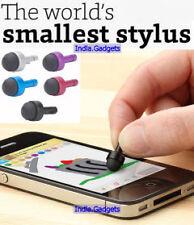 World's Smallest Stylus: 3.5mm Jack Anti-Dust Plug iPhone iPad Android Mobile
