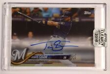 2018 Topps Clearly Authentic Autograph Brewers Travis Shaw Auto on Card