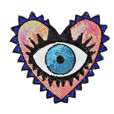 heart-shaped eye sequins embroidery clothing accessories applique flower patch~
