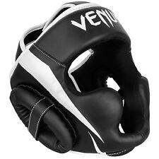 Venum Elite Head Guard Black / White Sparring Training Boxing MMA Protection