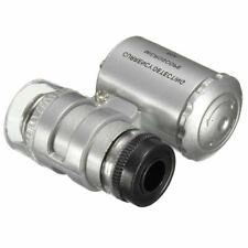 Lupa LED 45x18 mm Herramientas Joyero Relojería Microscopio Color Blanco a1717