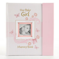 Our Baby Girl Memory Book: First Year Baby Album & Gift Keepsake, Pink Gingham