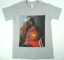 Michael Jordan Camiseta Gris TAMAÑO S-XXXL Supreme Baloncesto Burdeos Toros NBA