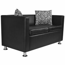 vidaXL 2-Seater Sofa Artificial Leather Loveseat Living Room Home Furniture