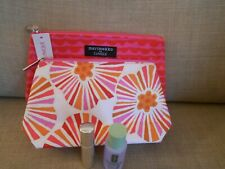 TWO CLINIQUE MAKE UP BAGS CLARIFYING LOTION AND BLUSHER BRUSH