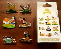 Disney Pluto 90th Anniversary Mystery LE 1000 pins! You get 6 great Pluto pins!