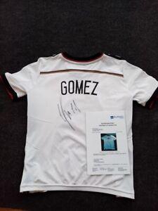 Deutschland Trikot Mario Gomez signiert DFB Fußball Autogramm, Fußball Größe 140