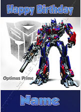 - TRANSFORMERS OPTIMUS PRIME - CHILDREN'S PERSONALISED BIRTHDAY CARD