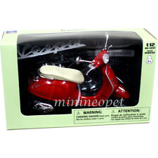 NEW RAY 57553 VESPA PRIMAVERA VINTAGE SCOOTER MOTORCYCLE 1/12 RED