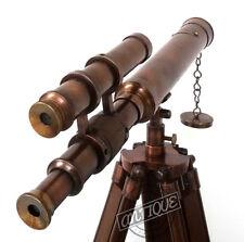 Valentine Sailor Double Barrel Telescope with Adjustable Stand Garden Ornamen