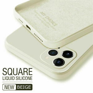 For iPhone 13 12 11 Pro Max XS XR SE 87Plus Liquid Silicone Case Soft Slim Cover
