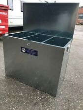 Ani-Mate 3 Compartment Horse Animal Feed Storage Bin Galvanised 325 litres