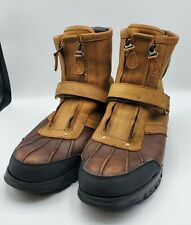 Polo Boots men's Size 13D Brown Leather Conquest High iii shoes Ralph Lauren