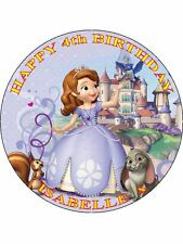 "Sophia Sofia The First-Design 4 personalizzato 7.5"" CERCHIO GLASSA cake topper"