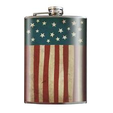 NEW TRIXIE & MILO STAINLESS STEEL 8 OUNCE OLD GLORY FLAG FLASK
