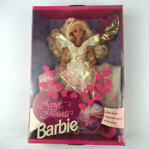 Vintage Barbie Secret Hearts Mattel 7902 Doll 1992 with Accessories Damaged Box