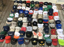 Vtg 1980's 1990s Trucker Baseball Hats Caps Hat Logo Patch SnapBack Lot Of 100 D