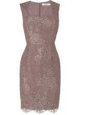 Worn Once Size 8 LK BENNETT Belitta Pale Quartz Lace Pencil Occasion Dress £245~