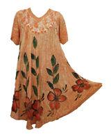 Embellished Hippie Tunic Top Dress Boho Beach Kaftan Size 14 16 18 20 22 24 26