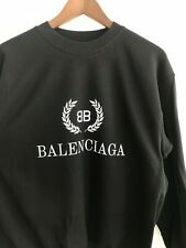 NEW BLACK BALENCIAGA PRINT SWEATSHIRT Size XL Without Labels and Tags