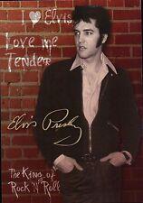 Elvis Presley Stands in Front of Brick Wall, Love Me Tender, The King - Postcard