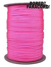 White Neon Pink Diamonds 550 Paracord Rope 7 Strand Parachute - 1000 Foot Spool