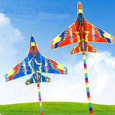 Flugzeug Rakette Drachen Flugdrachen mit 50m Drachenschnur Kinder Erwachsen