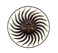 Hover Image to Zoom 37 in. Global Inspired Bronze Finish Celestial Sun Iron Wall